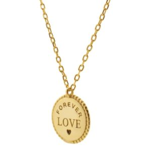 Collar Medalla Love Dorado
